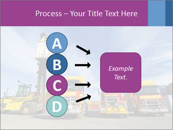 Lift truck loading shipping PowerPoint Template - Slide 94