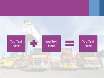 Lift truck loading shipping PowerPoint Template - Slide 95