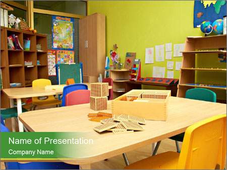 Preschool Classroom PowerPoint Template