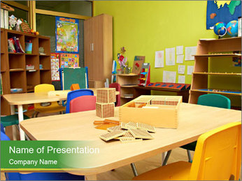 Preschool Classroom PowerPoint Template - Slide 1