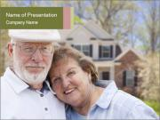 Attractive Happy Senior Couple PowerPoint Templates