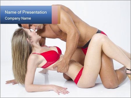 Sexy couple PowerPoint Template