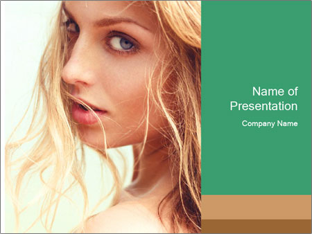 Beautiful girl PowerPoint Templates