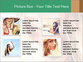 Beautiful girl PowerPoint Template - Slide 14