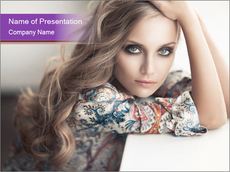 The beautiful young girl PowerPoint Templates