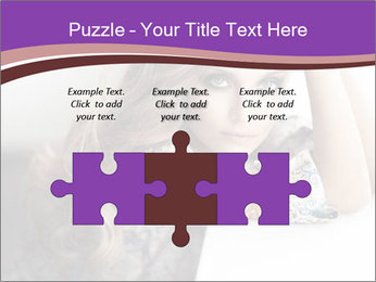 The beautiful young girl PowerPoint Templates - Slide 42