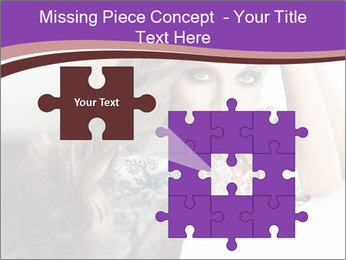 The beautiful young girl PowerPoint Templates - Slide 45