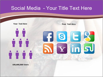 The beautiful young girl PowerPoint Templates - Slide 5