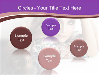 The beautiful young girl PowerPoint Templates - Slide 77
