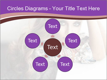 The beautiful young girl PowerPoint Templates - Slide 78