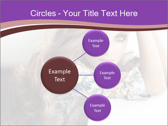 The beautiful young girl PowerPoint Templates - Slide 79
