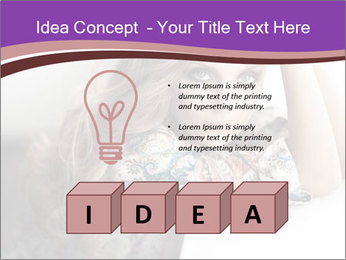 The beautiful young girl PowerPoint Templates - Slide 80