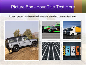 Silver Land Rover Defender PowerPoint Templates - Slide 19
