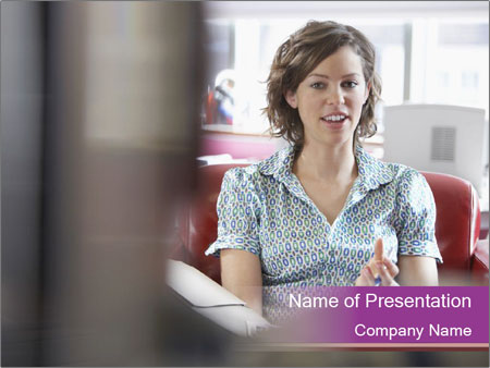 Young businesswoman PowerPoint Template