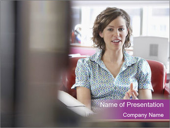 Young businesswoman PowerPoint Template - Slide 1
