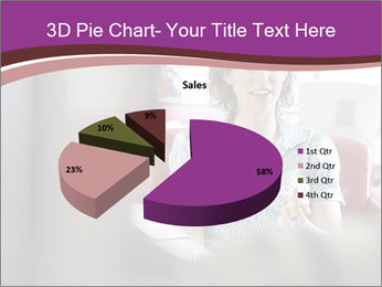 Young businesswoman PowerPoint Template - Slide 35