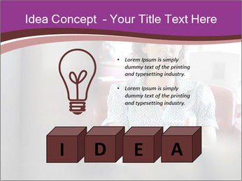 Young businesswoman PowerPoint Template - Slide 80