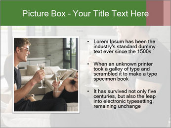 Man and woman drinking champagne PowerPoint Template - Slide 13