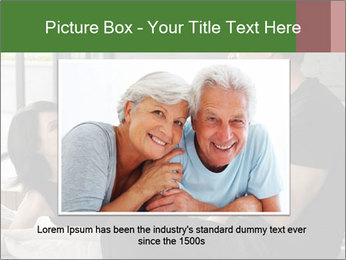 Man and woman drinking champagne PowerPoint Template - Slide 16