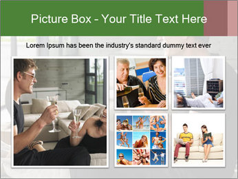 Man and woman drinking champagne PowerPoint Template - Slide 19