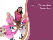 Happy women wearing pink PowerPoint Templates
