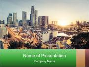 Singapore skyline PowerPoint Templates