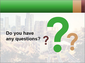 Singapore skyline PowerPoint Template