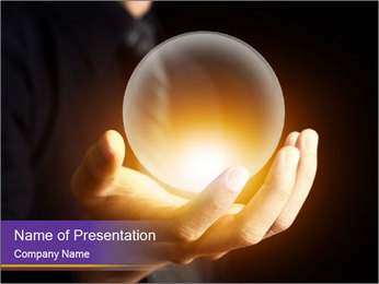 Crystal Ball PowerPoint Templates - Slide 1