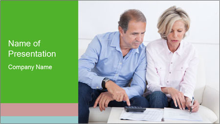 Mature couple PowerPoint Template