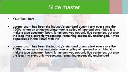 Mature couple PowerPoint Template - Slide 2
