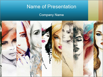 Woman face PowerPoint Templates - Slide 1