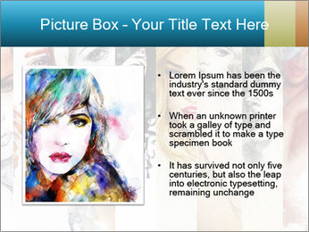Woman face PowerPoint Templates - Slide 13