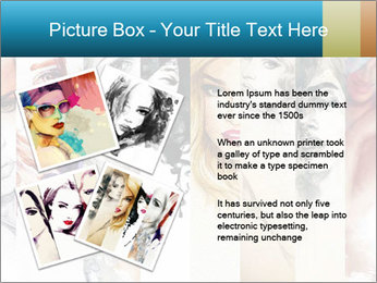 Woman face PowerPoint Templates - Slide 23