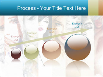Woman face PowerPoint Templates - Slide 87