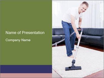 Cleaning vacuum PowerPoint Template - Slide 1