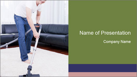 Cleaning vacuum PowerPoint Template