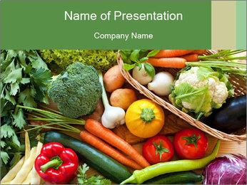Vegetables PowerPoint Template - Slide 1
