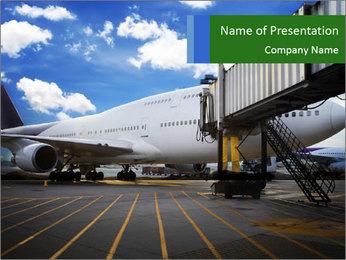 Air plane PowerPoint Templates - Slide 1