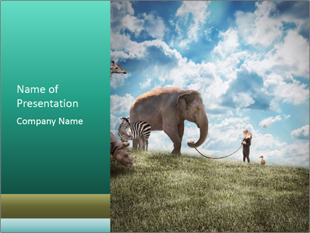 Big Elephant Powerpoint Template Backgrounds Id 0000094435