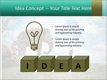 Big elephant PowerPoint Template - Slide 80
