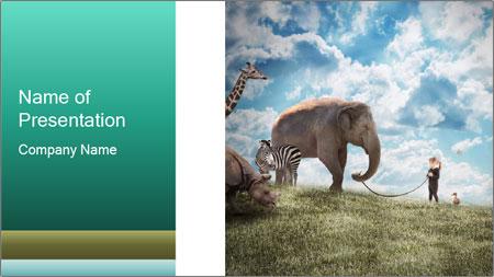 Big elephant PowerPoint Template