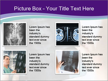 Doctor holding x-ray PowerPoint Templates - Slide 14