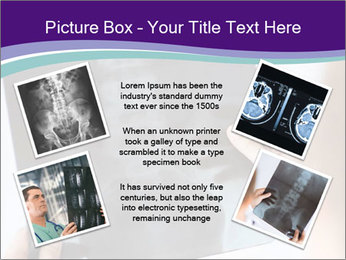 Doctor holding x-ray PowerPoint Templates - Slide 24