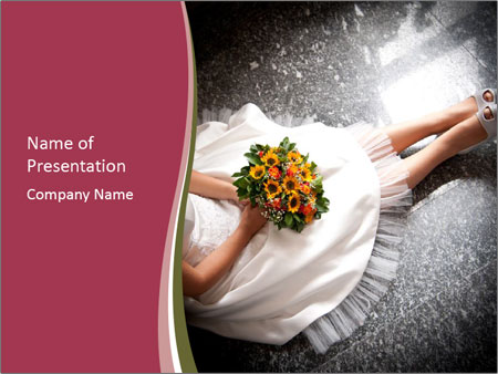 Bride's flowers PowerPoint Template