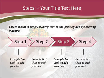 Bride's flowers PowerPoint Templates - Slide 4