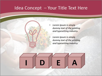 Bride's flowers PowerPoint Templates - Slide 80