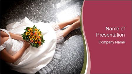 Bride's flowers PowerPoint Template