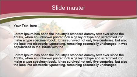Bride's flowers PowerPoint Template - Slide 2