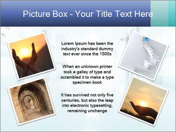 Rays of light PowerPoint Template - Slide 24