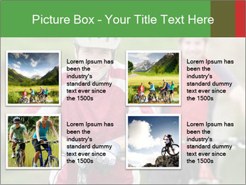 Smiling cyclists PowerPoint Template - Slide 14